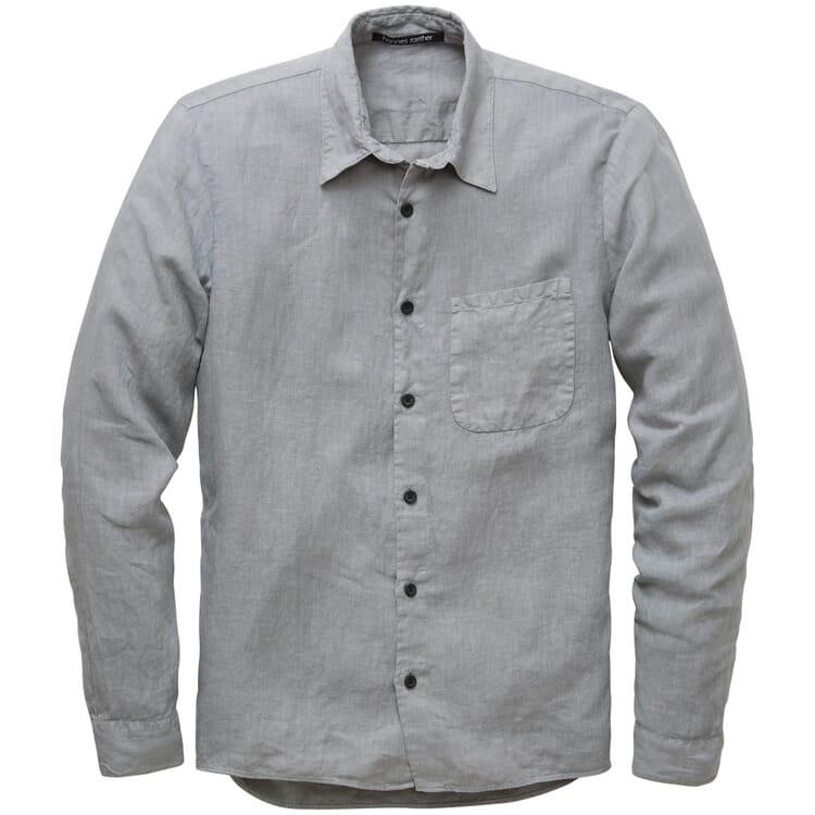 Herren-Leinenhemd, Grau