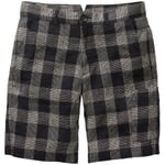 Men's Shorts Linen with Checked Pattern