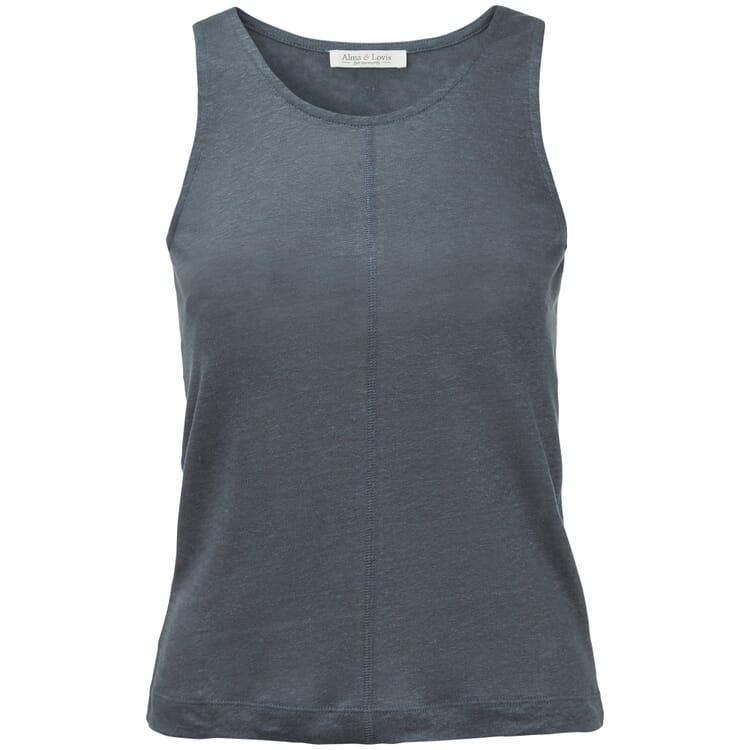 Women's Tank Top Made of Linen, Dove Blue