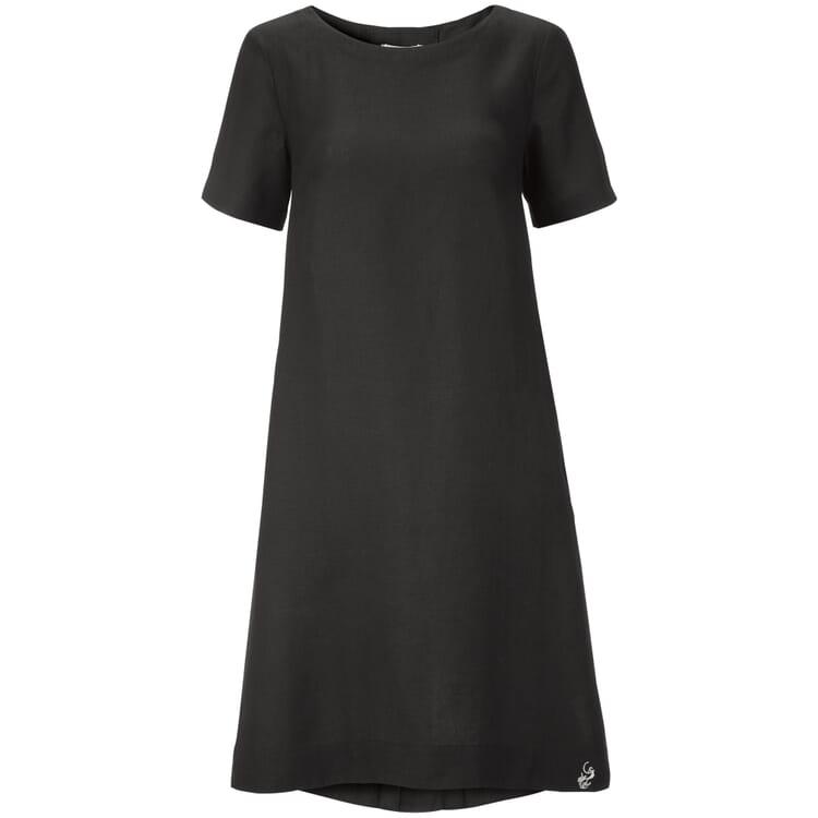 Women's Dress Made of Linen, Black