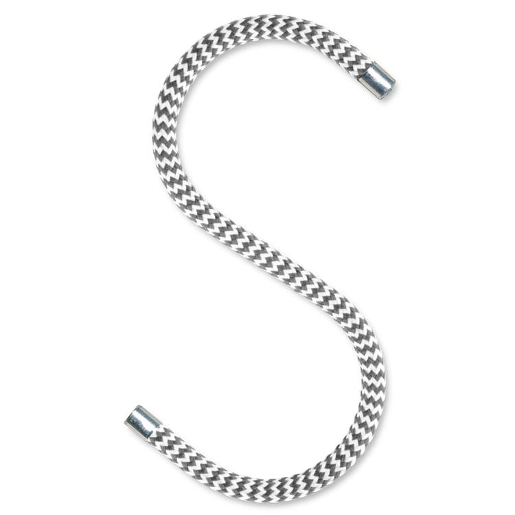 Kleiderhaken Cord Hook Grau