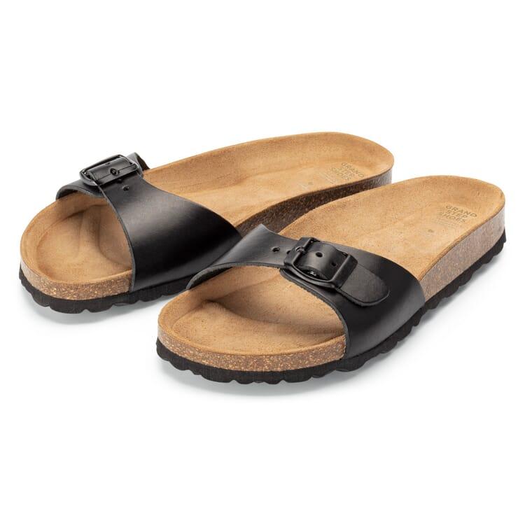 Women's Footbed Sandals, Black