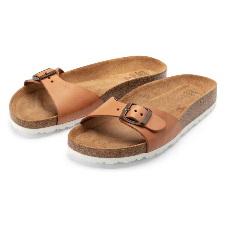 Women's Footbed Sandals, Tan