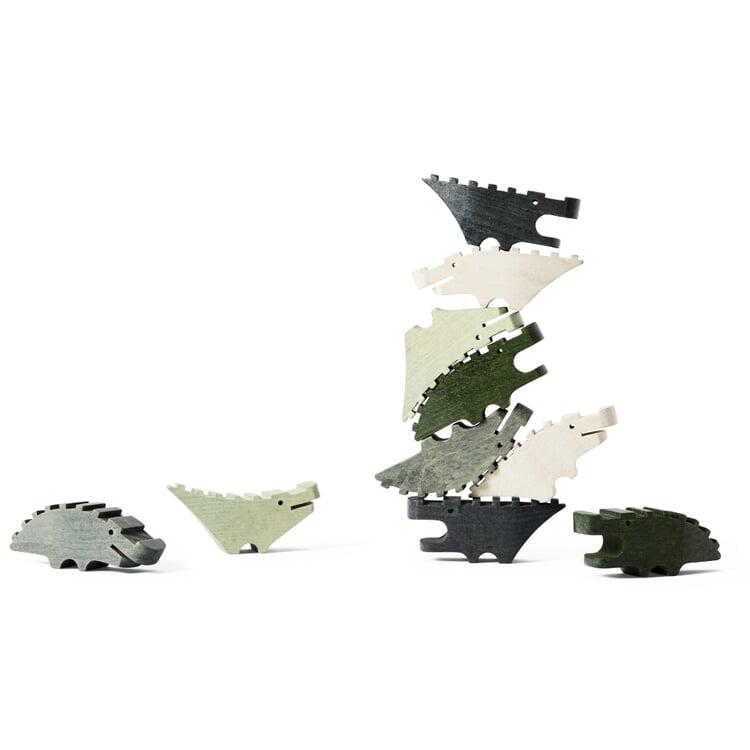 Holzfiguren Croc Pile Grün
