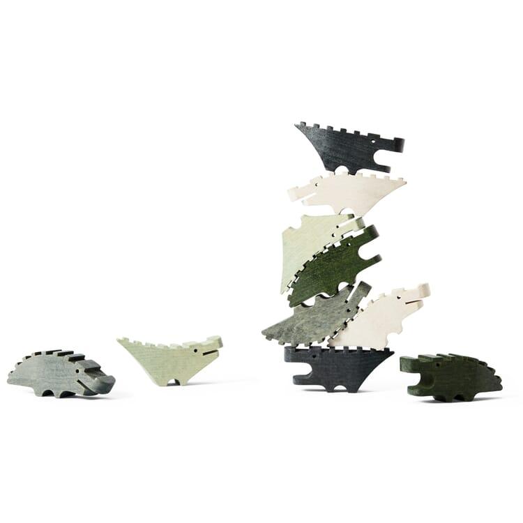 Holzfiguren Croc Pile, Grün