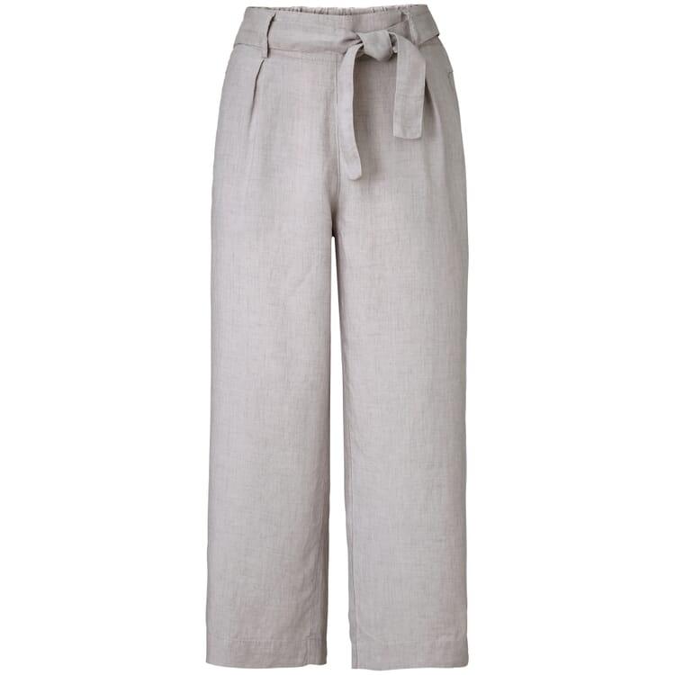 Women's Culottes Made of Linen, Light Grey