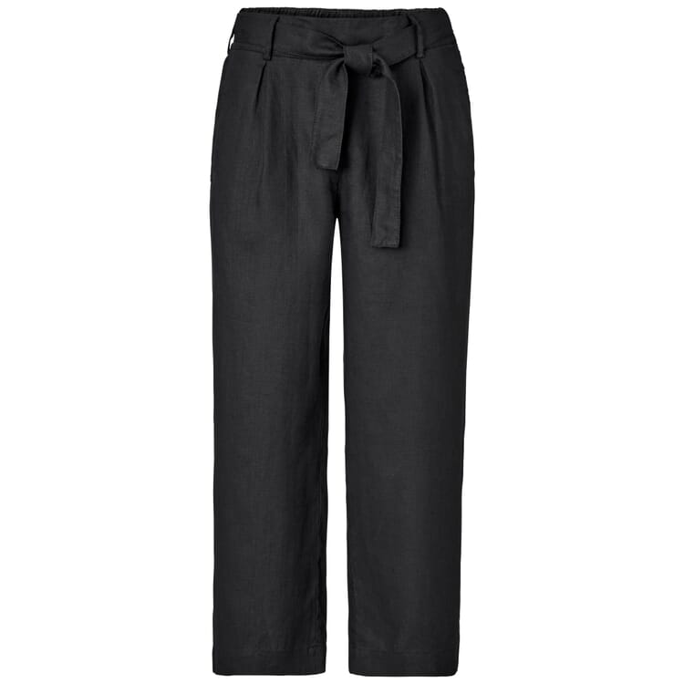 Women's Culottes Made of Linen, Black