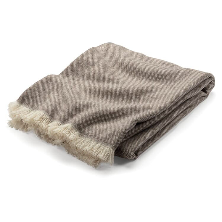 Lambswool blanket Panama weave, Beige