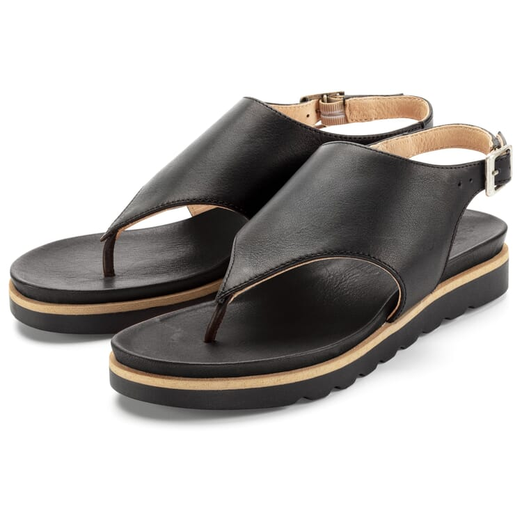 Women's Thong Sandals, Black
