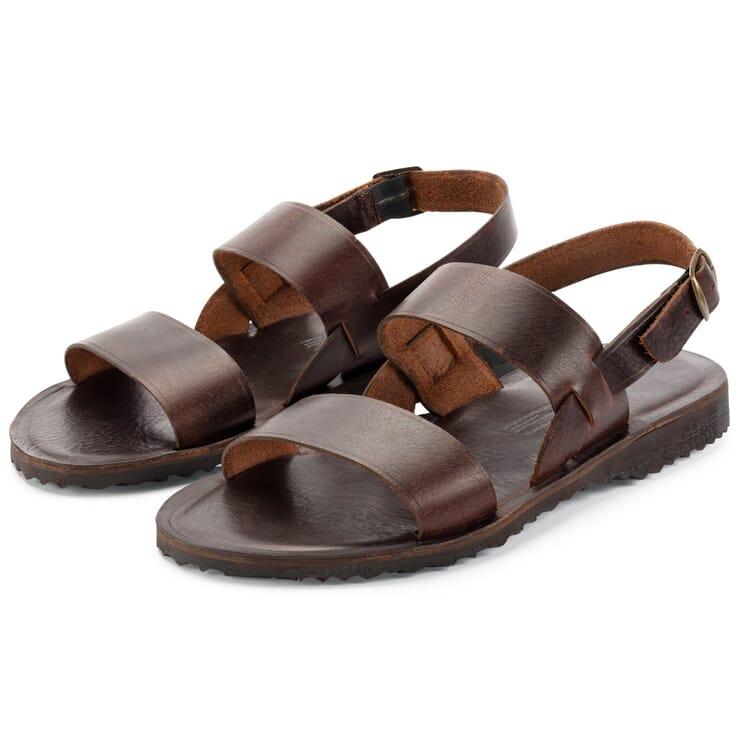 Men's Leather Sandals, Dark Brown