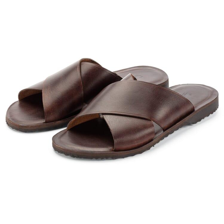 Men's Leather Slides