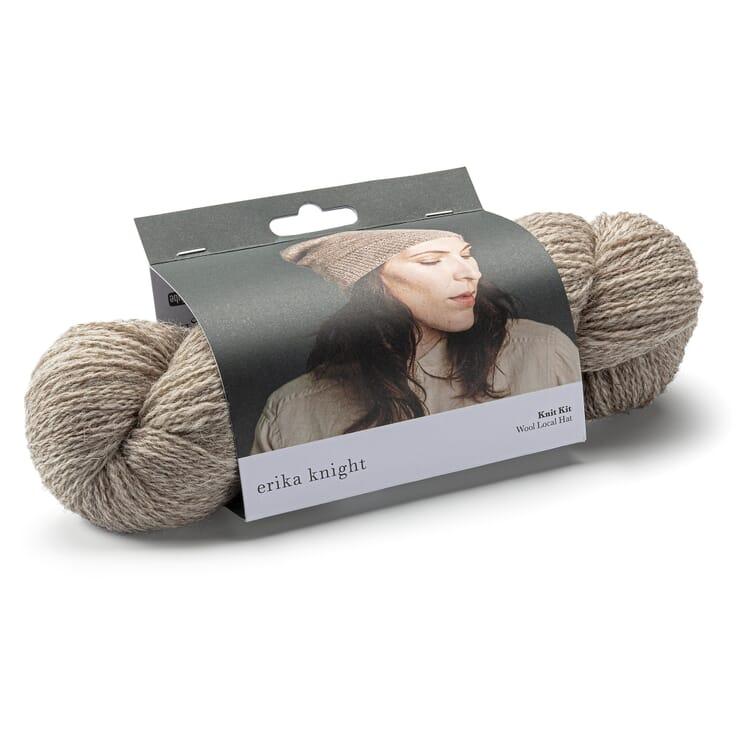 Knitting Wool for a Beanie, Beige