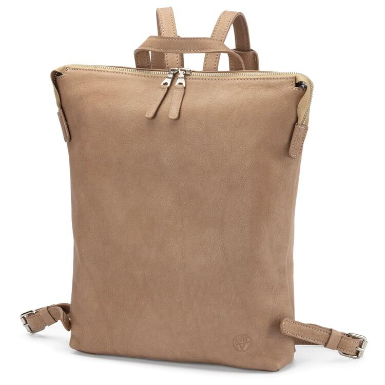 Damen-Backpack Rindleder Taupe