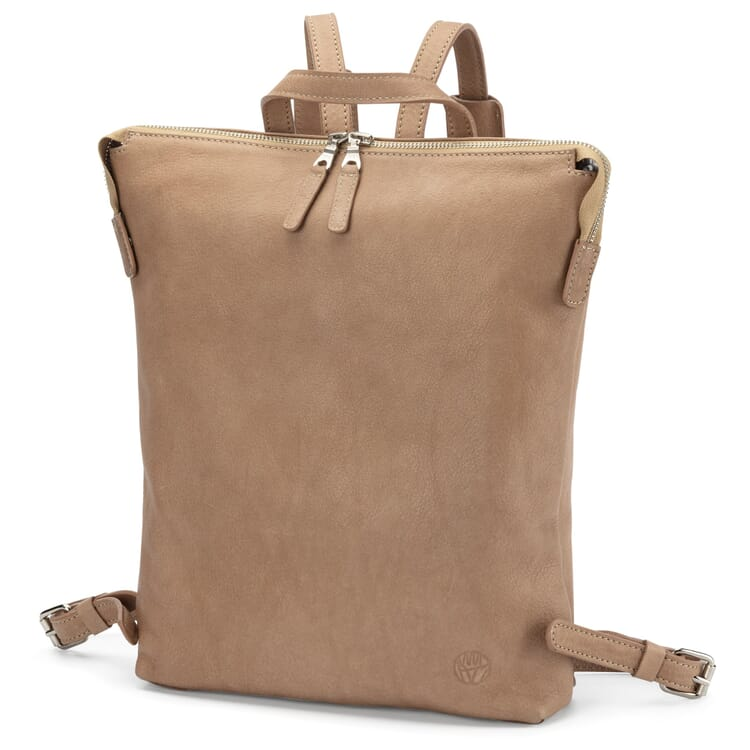 Damen-Backpack Rindleder, Taupe