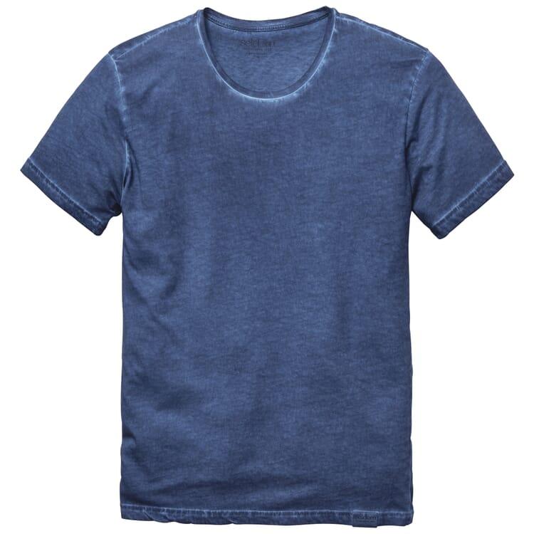Men's T-Shirt with Crew Neck, Blue