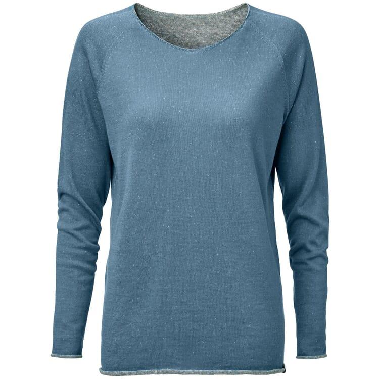 Women's Sweater with a Round Neck, Medium Blue