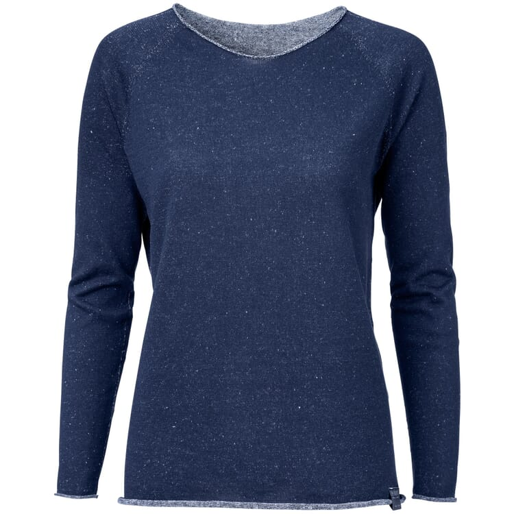 Women's Sweater with a Round Neck, Blue