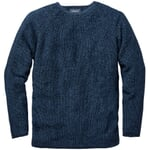 Men's Sweater with a Seed Stitch Mottled Blue