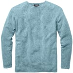 Men's Sweater with a Seed Stitch Mottled Green