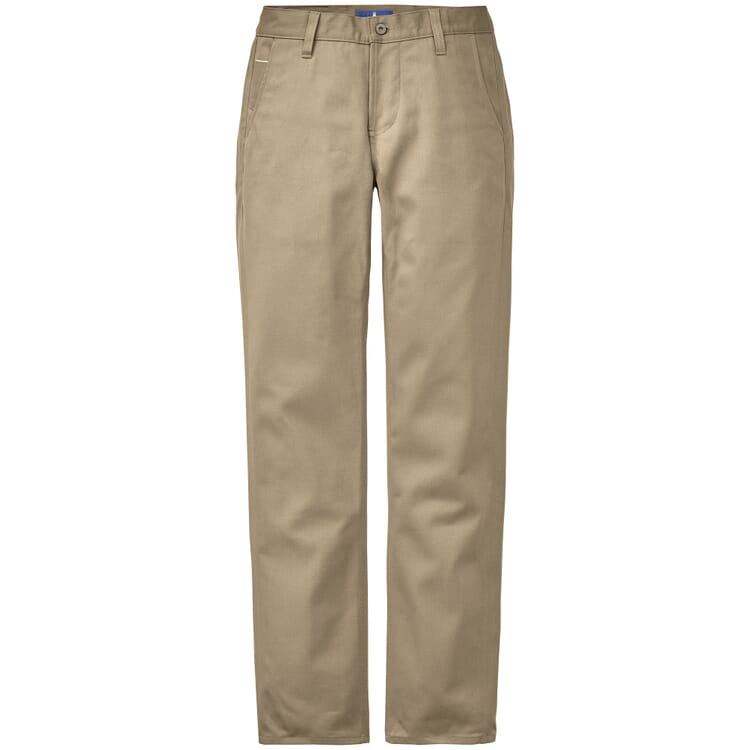 Men's Chinos Made of Cotton Fabric with Selvage