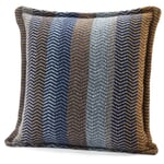 """Pillow Case Made of Lambswool in Natural Shades """"Fri"""" Blue-Brown"""