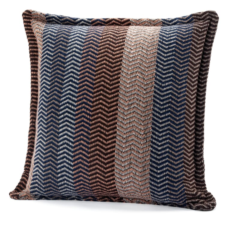 """Pillow Case Made of Lambswool in Natural Shades """"Fri"""", Sand-Blue"""