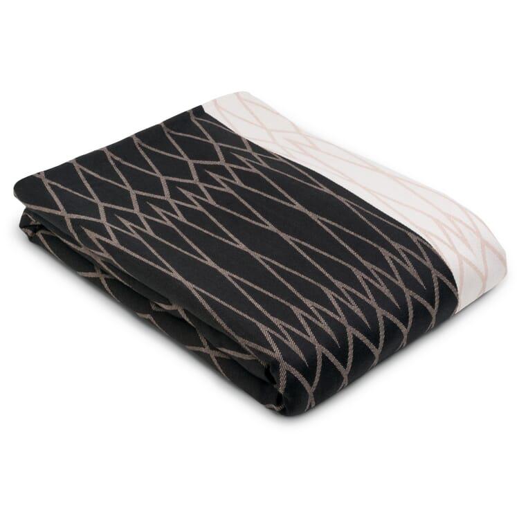 Bedspread Rhombus, Dark Grey-Pink