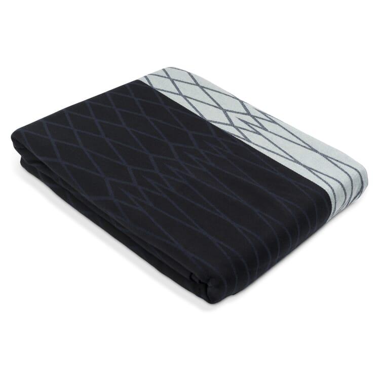 Bedspread Rhombus, Dark Blue-Black