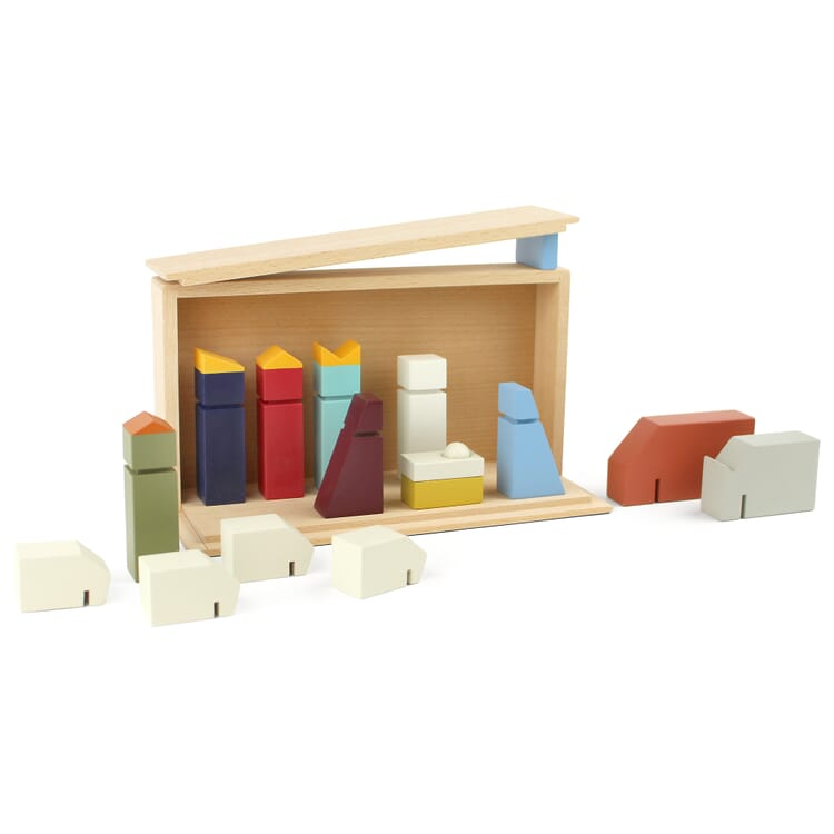 Nativity Scene with Wooden Figurines