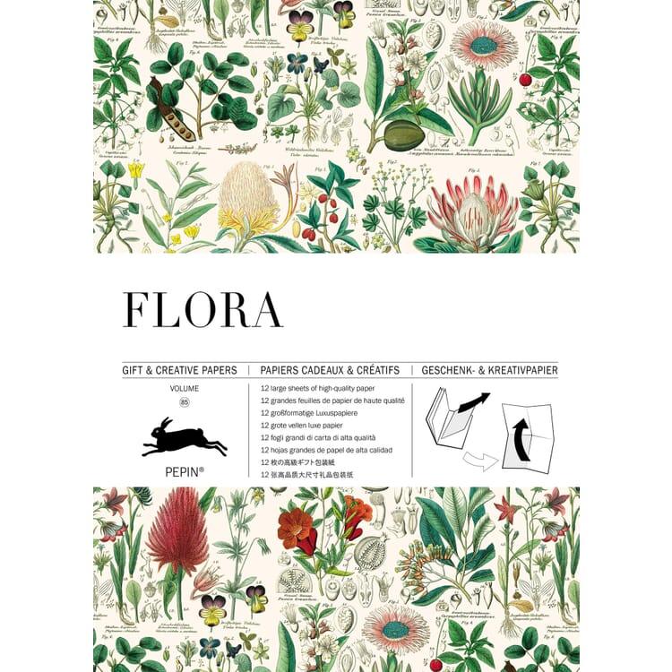 Geschenkpapier Pepin, Flora