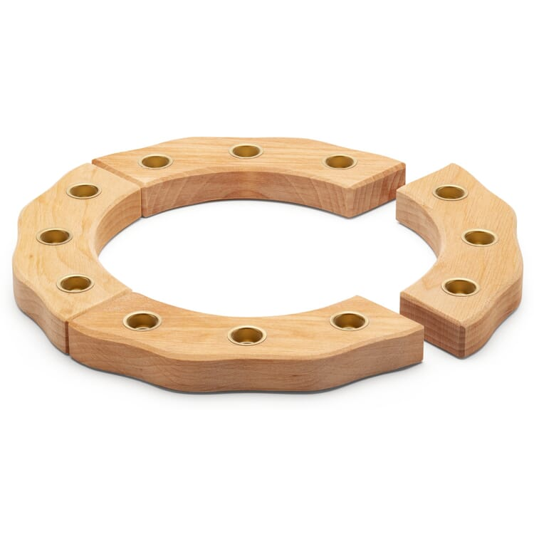 Birthday Decoration Candle Holder Ring Made of Lime Wood