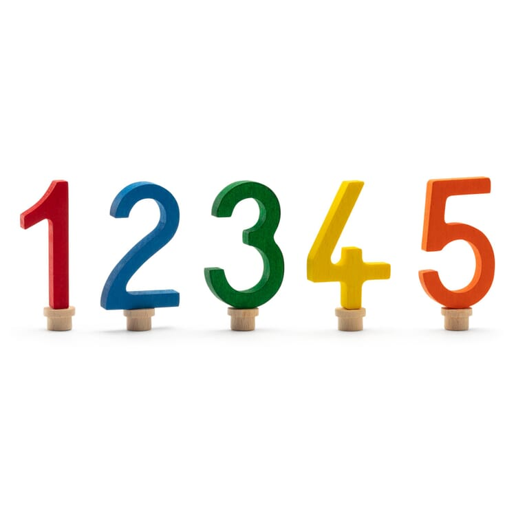 Colourful Birthday Digits, Digits 1-5