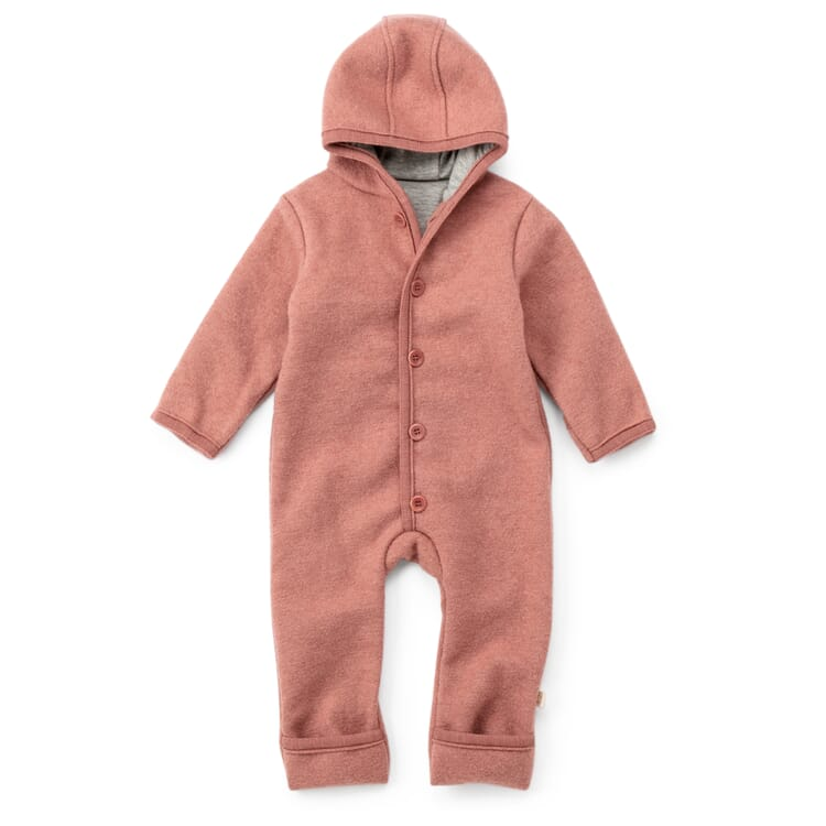 Kinder Wollwalk-Overall, Rosa