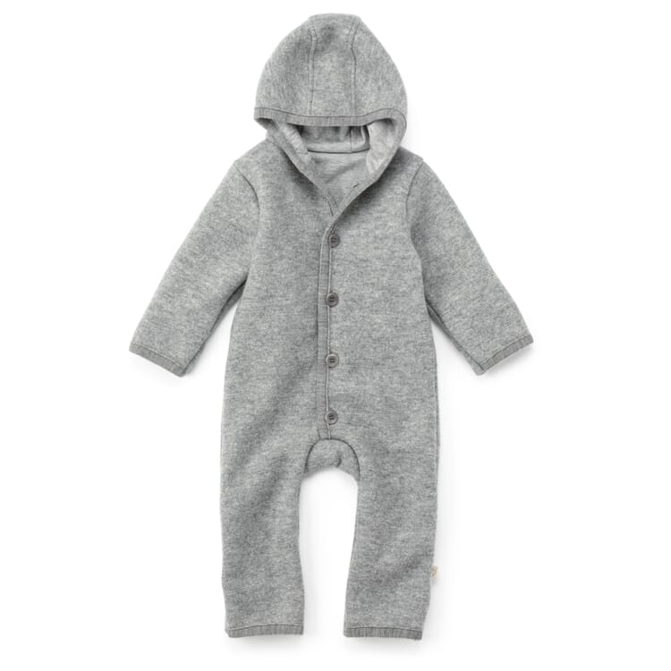 Kinder Wollwalk-Overall, Grau