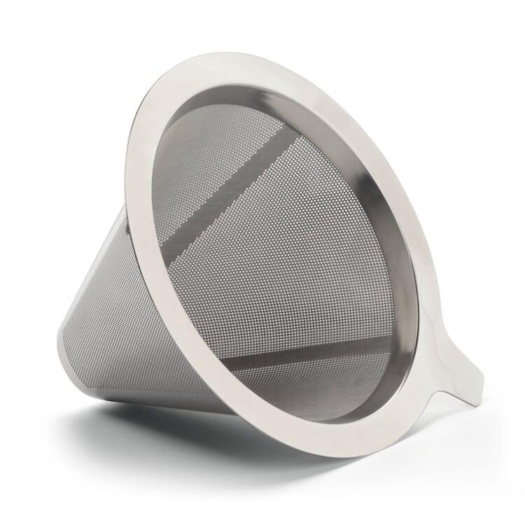 Edelstahl-Permanentfilter für Kaffeebereiter mit Dauerfilter Borosilikatglas