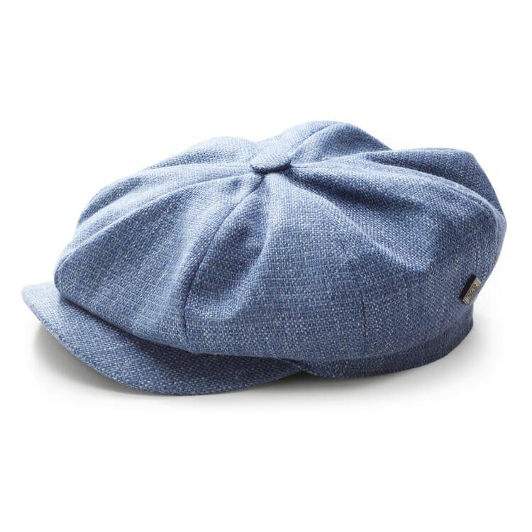 Herren-Schlägermütze Leinen, Blaumelange