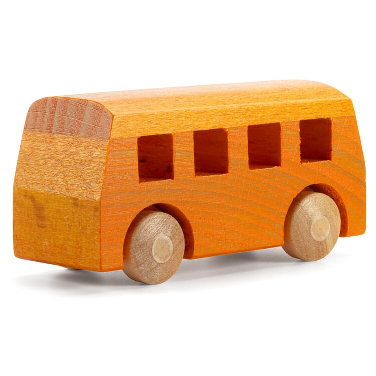 Holzauto Bus, Orange