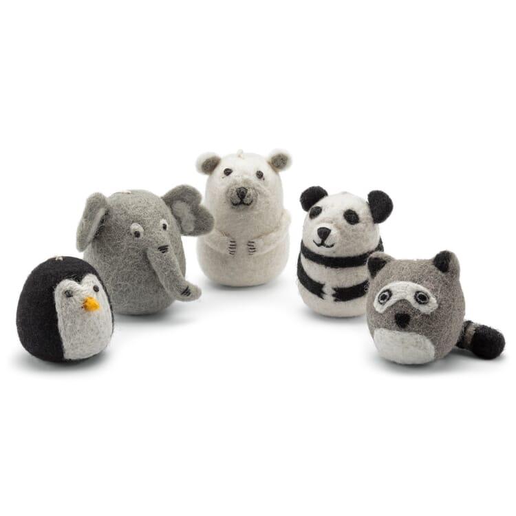 Soft Toys Zoo Animals Made of Felt