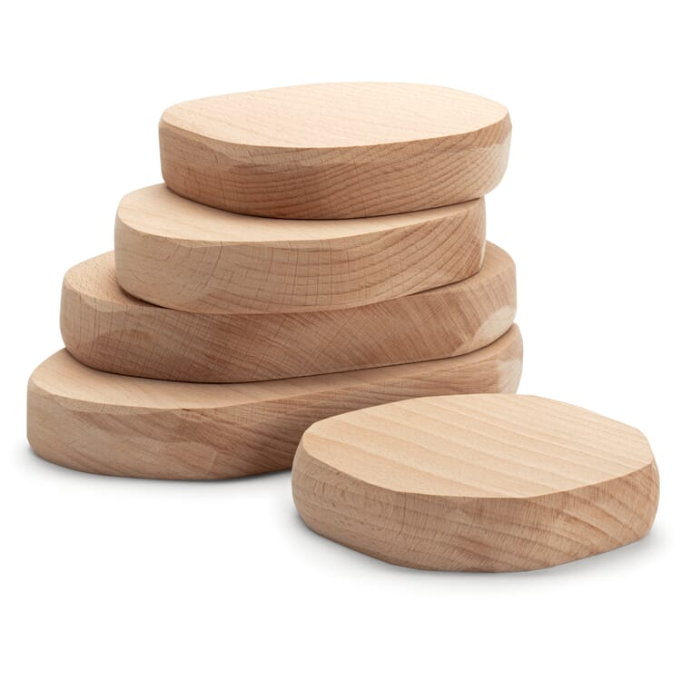 Wooden Bricks in Natural Stone Shapes, Quarry Plates