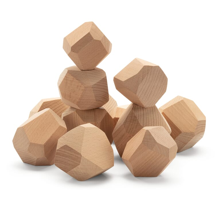 Wooden Bricks in Natural Stone Shapes, Quarry Stones