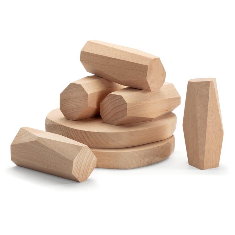 Wooden Bricks in Natural Stone Shapes, Menhirs