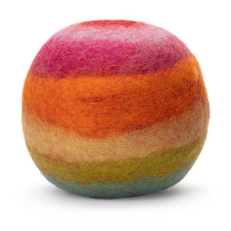 Soft Toy Felt Ball, Rainbow