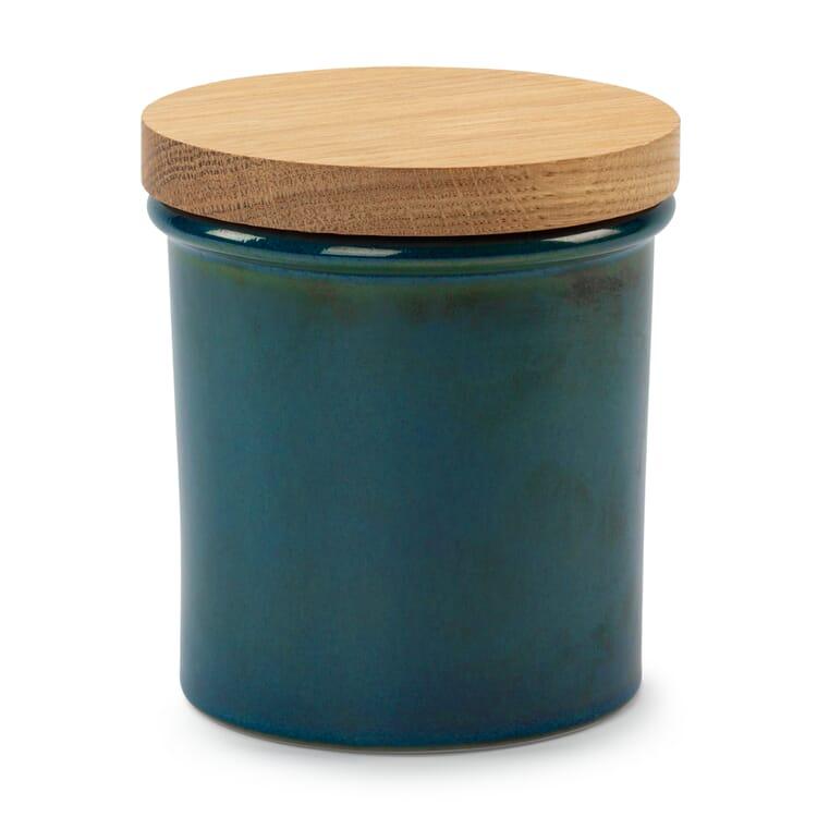 Aufbewahrungsdose Steinzeug mit Eichenholzdeckel