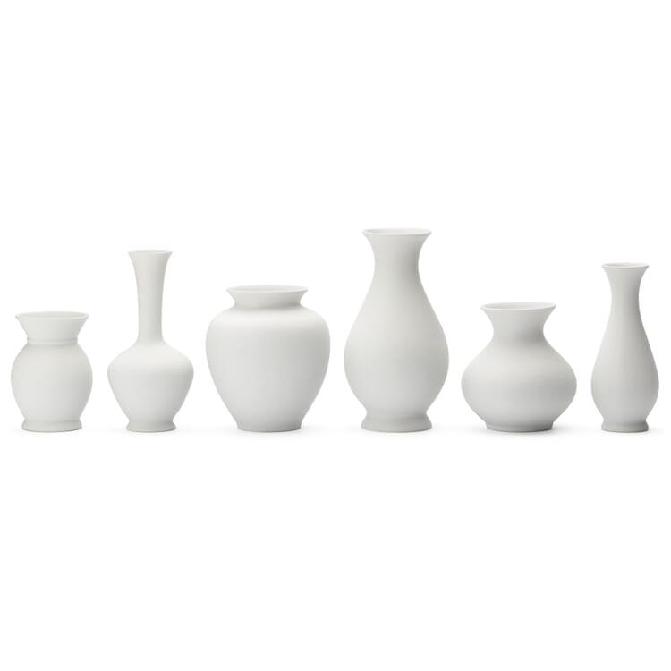 6er-Set Vasen Biskuitporzellan
