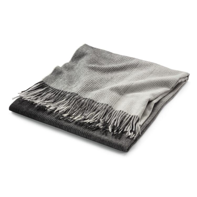 Wolldecke Farbverlauf, Grau