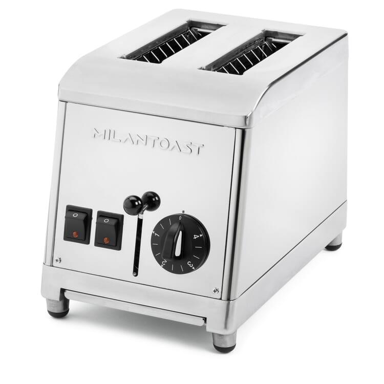 Zweischacht-Toaster Edelstahl