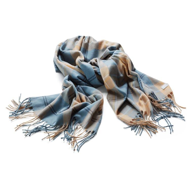 Damenschal recycelt, Bleu-Natur