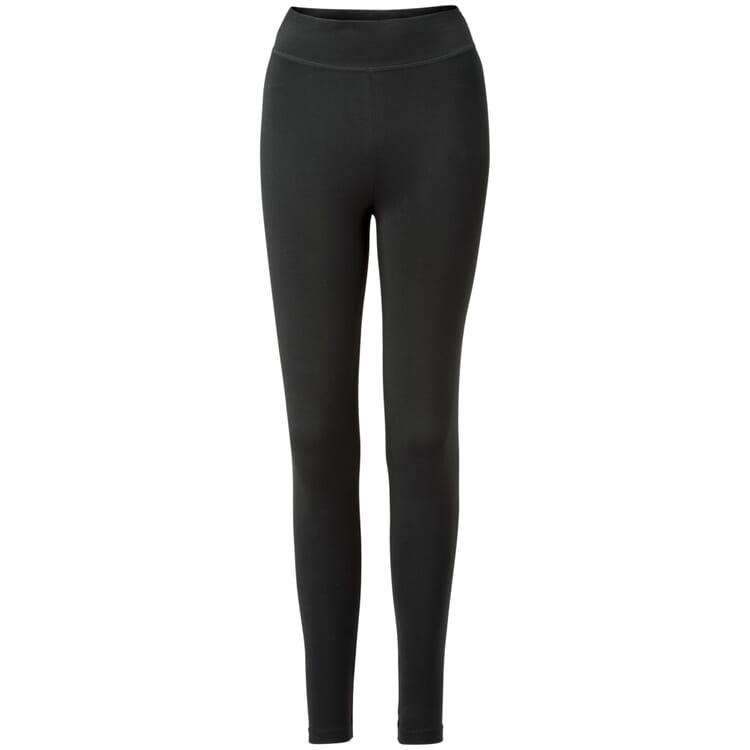 Damen-Jersey Leggings, Schwarz