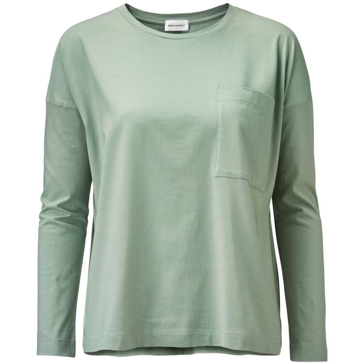 Damen-Langarm Shirt, Hellgrün