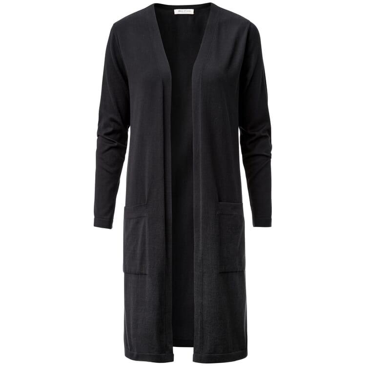 Women's Long Cardigan, Black